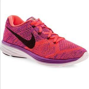 Nike Flyknit Lunar 3 Running Shoes Size 6